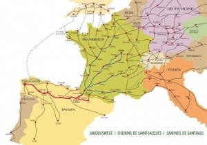 Wandelroutes vanuit heel Europa naar Santiago