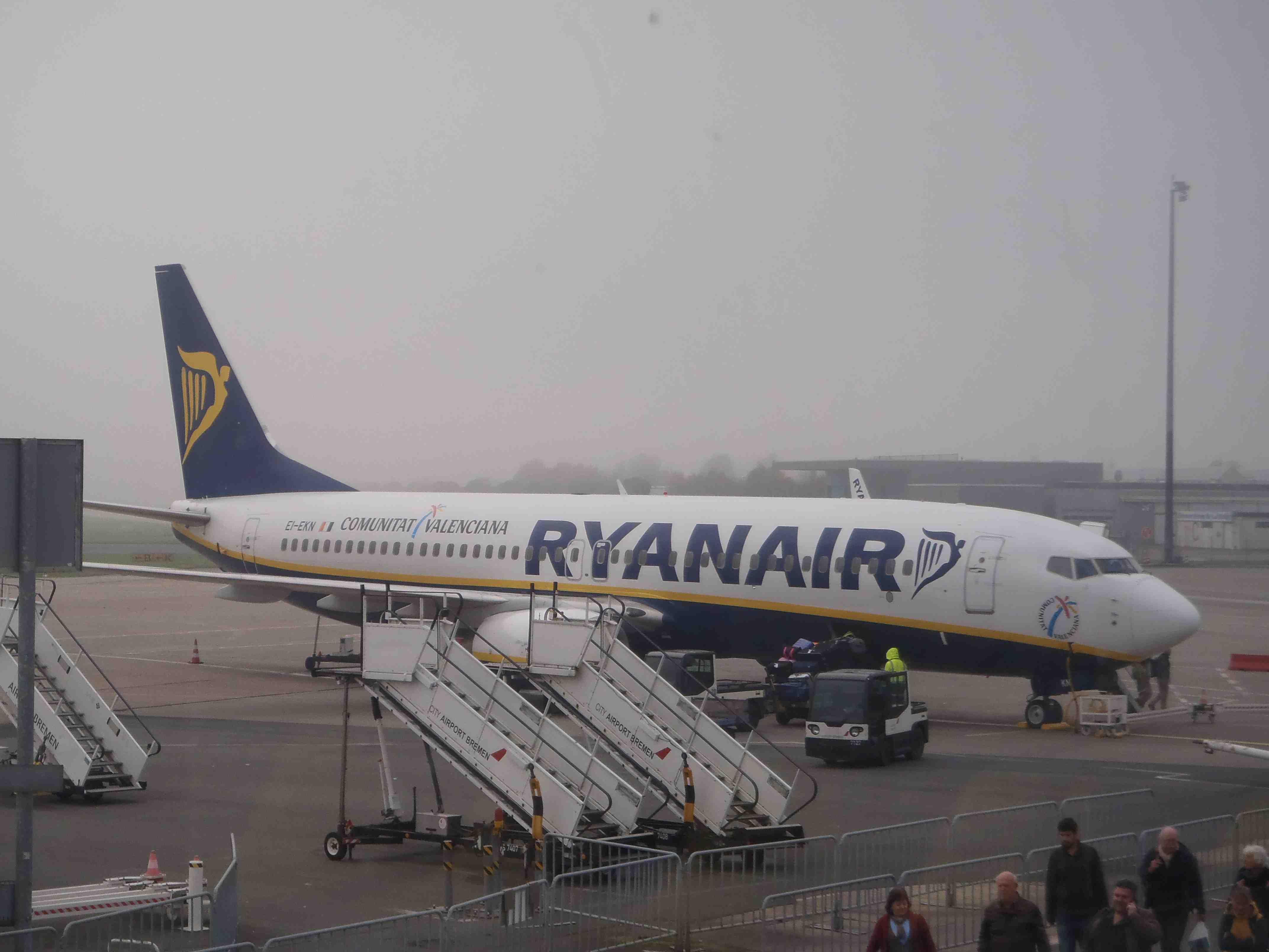 Een vliegtuig in Bremen