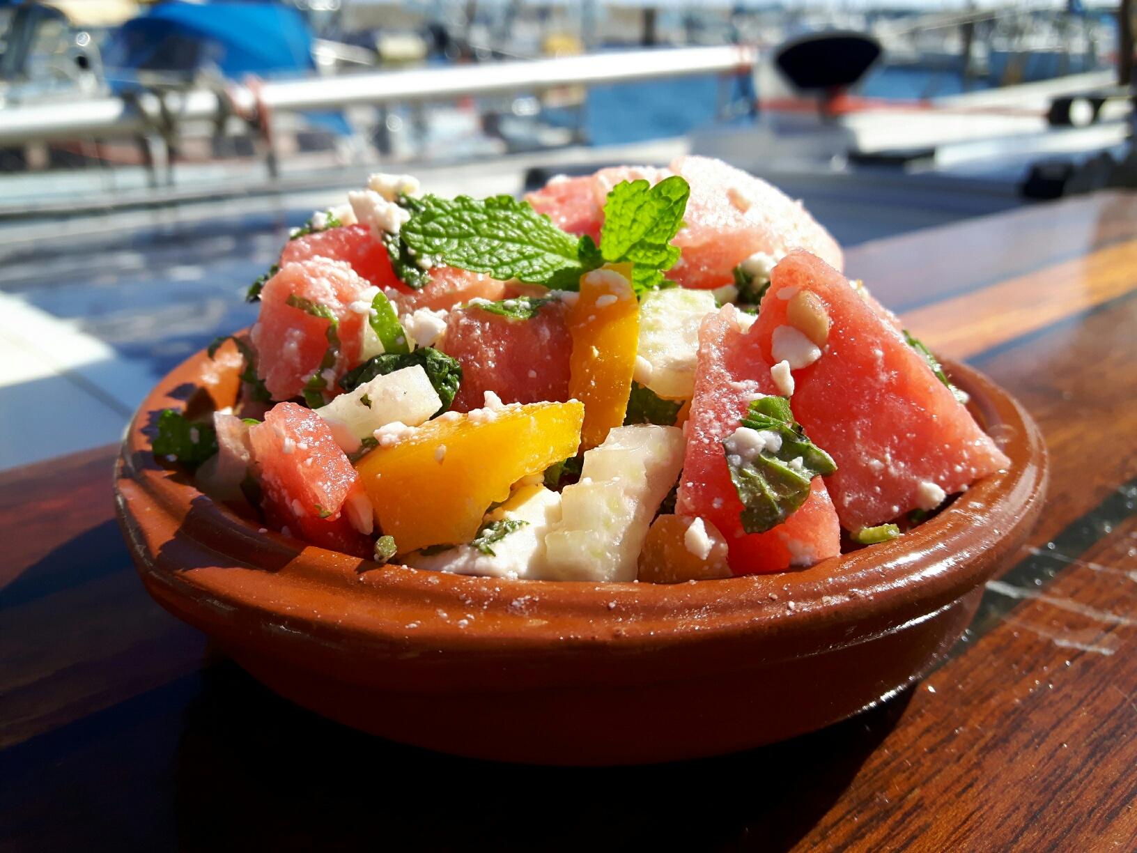 pittige watermeloensalade